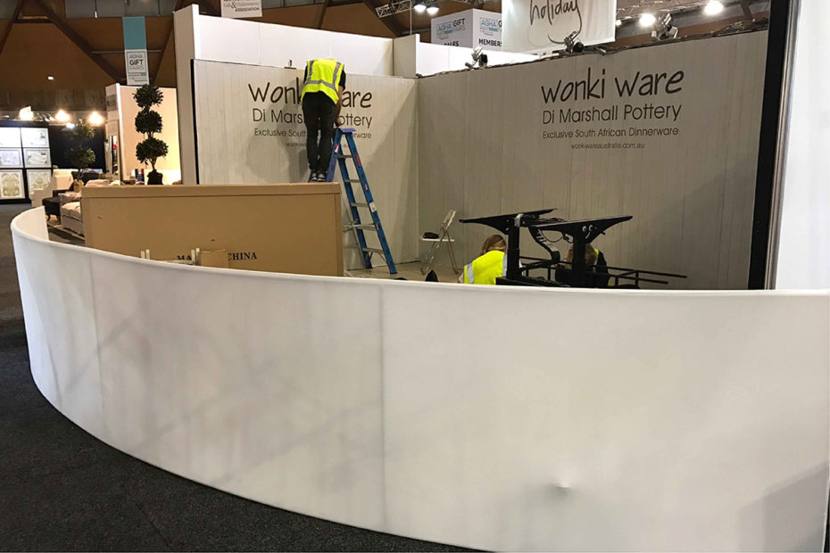 Exhibition Stand Roof Wonky Ware