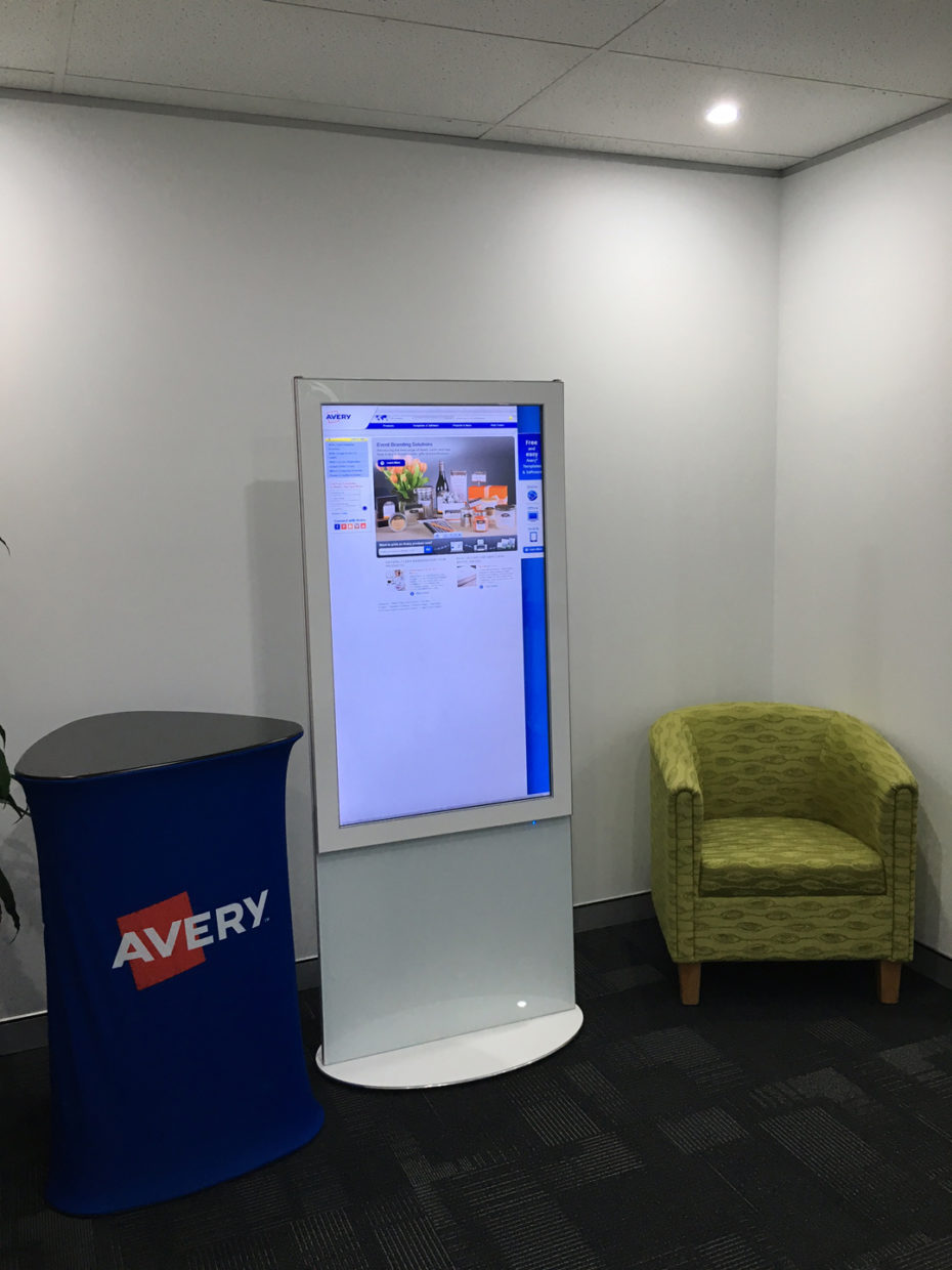 Avery touchscreen