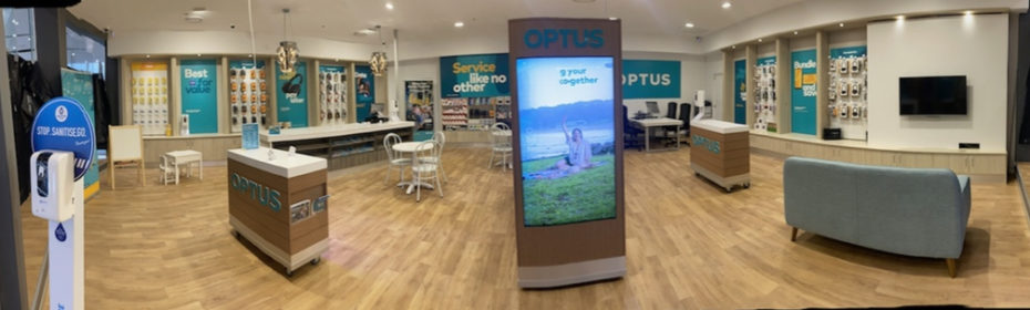 Optus custom pop up
